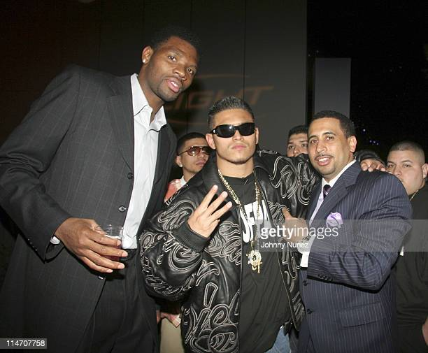 Walter McCarty Aztek and Nick Storm of Hpnotiq during NBA Players Association Gala February 18 2006 at Houston Convention Center in Houston Texas...