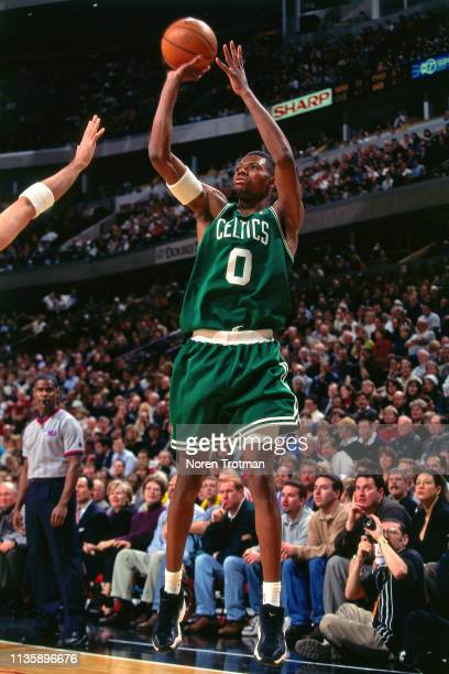 Walter McCarty of the Boston Celtics shoots the ball against the Chicago Bulls on January 6 1998 at the United Center in Chicago Illinois NOTE TO...