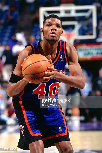 Walter McCarty of the New York Knicks shoots the ball against the Sacramento Kings on February 20 1997 at Arco Arena in Sacramento California NOTE TO...