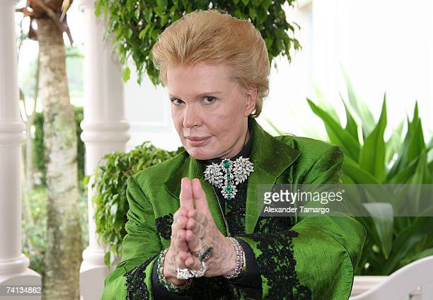 Walter Mercado arrives for Charytin Goyco's dream wedding at Walt Disney World at the Grand Floridian wedding pavilion on May 11 2007 in Orlando...