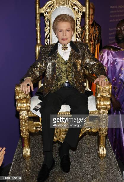 Walter Mercado is seen at the opening of Mucho Mucho Amor 50 Years of Walter Mercado at HistoryMiami Museum on August 1 2019 in Miami Florida