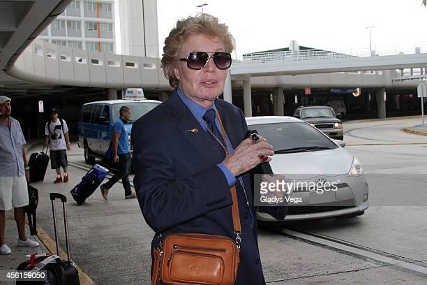 Walter Mercado is sighted at Luis Munoz Marin International Airport on September 26 2014 in San Juan Puerto Rico