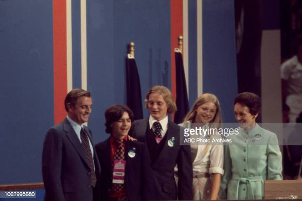 Walter Mondale William Mondale Ted Mondale Eleanor Mondale Joan Mondale at the 1976 Democratic National Convention Madison Square Garden in New York...