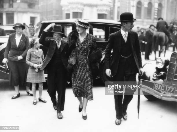 Walter Montagu Douglas Scott 8th Duke of Buccleuch the Duchess of Buccleuch and their son Lord Dalkeith arrive at Westminster Abbey in London for the...
