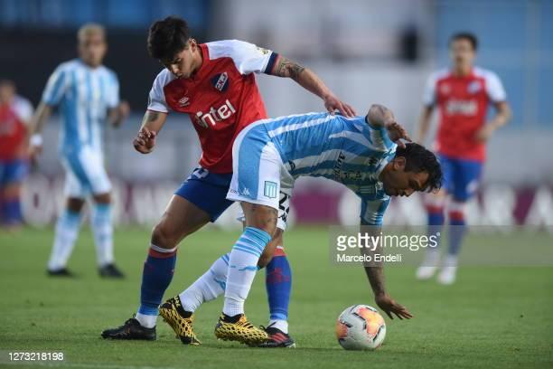 Walter Montoya of Racing Club controls the ball during a group F match of Copa CONMEBOL Libertadores 2020 between Racing and Nacional at Juan Domingo...