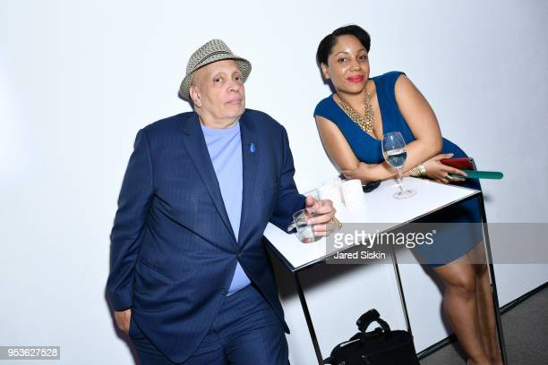 Walter Mosley and guest and attend Planned Parenthood Of New York City Spring Gala Honoring Cecile Richards And Laverne Cox at Spring Studios on May...