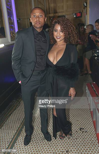 Walter Mosley Jr and guest attend The Grown And Sexy Halloween Masquerade Ball on October 9 2016 in Los Angeles California