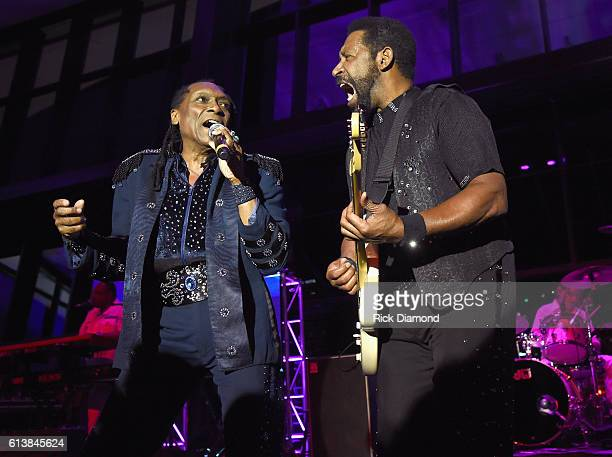 Walter Orange and William King of The Commodores performs at the United Talent Agency Party during day 2 of the IEBA 2016 Conference on October 10...