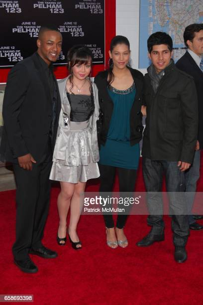 Walter Perez Collins Pennie Anna Maria De Tagle and Kristy Flores attend PREMIERE OF COLUMBIA PICTURES 'THE TAKING OF PELHAM 1 2 3' at Mann's Village...