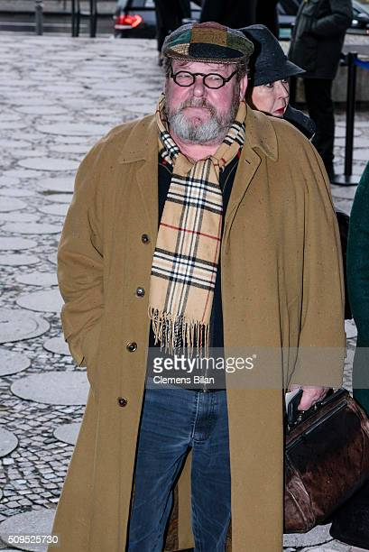 Walter Plathe attends the Wolfgang Rademann memorial service on February 11 2016 in Berlin Germany