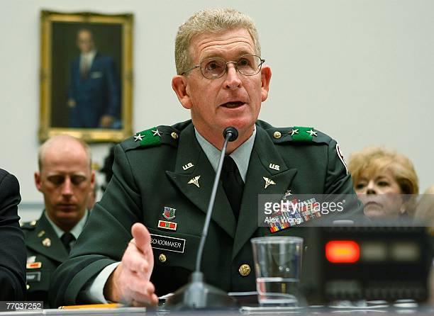 Walter Reed Army Medical Center Commander Major General Eric Schoomaker testifies during a hearing before the National Security and Foreign Affairs...