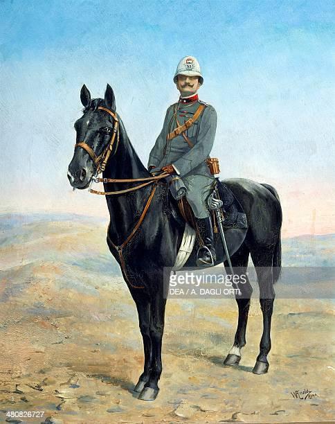 Walter Rinaldi Colonial Officer on Horseback Pinerolo Museo Storico Dell'Arma Di Cavalleria