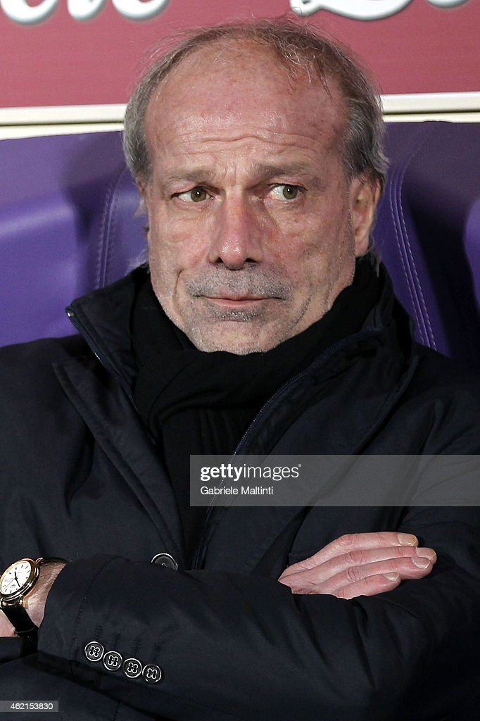 Walter Sabatini general manager of AS Roma before the Serie A match between ACF Fiorentina and AS Roma at Stadio Artemio Franchi on January 25, 2015 in Florence, Italy.