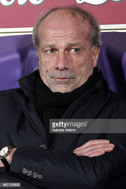 Walter Sabatini general manager of AS Roma before the Serie A match between ACF Fiorentina and AS Roma at Stadio Artemio Franchi on January 25 2015...