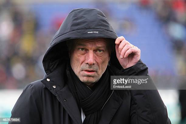 Walter Sabatini of Roma looks on during the Serie A match between Cagliari Calcio and AS Roma at Stadio Sant'Elia on February 8 2015 in Cagliari Italy