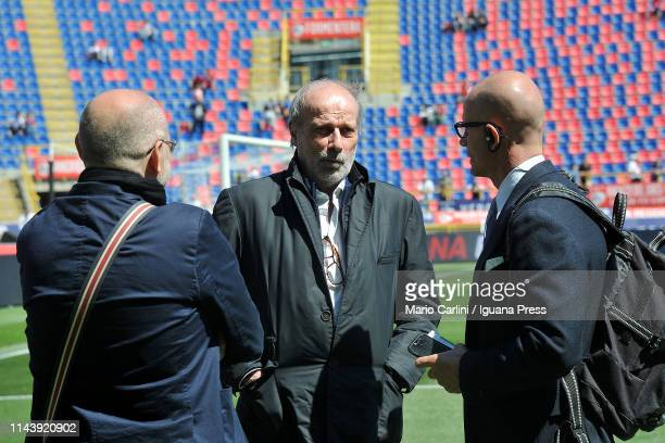 Walter Sabatini Sporting Manager of UC Sampdoria looks on prior the beginning of the Serie A match between Bologna FC and UC Sampdoria at Stadio...