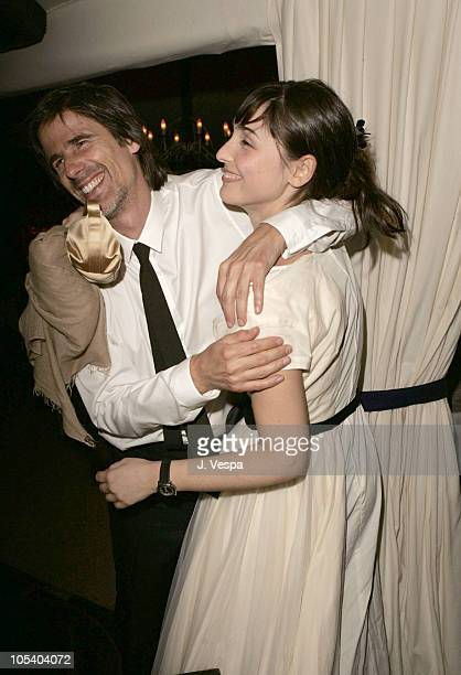Walter Salles and Maria Klabin during 2004 Cannes Film Festival 'Motorcycle Diaries' Party at La Plage Coste in Cannes France