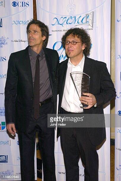 Walter Salles the director of Motorcycle Diaries presenting Jose Rivera the NHMC Award for his Academy of Motion Picture Arts and Sciences 2005 Oscar...
