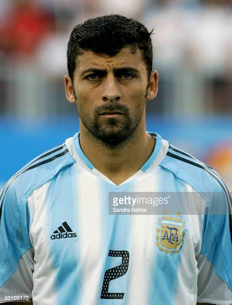 Walter Samuel of Argentina during the FIFA Confederations Cup 2005 match between Argentina and Australia on June 18 2005 in Nuremberg Germany