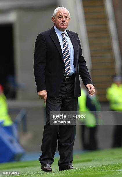 Walter Smith coach of Rangers looks on during the Clydesdale Bank Scottish Premier League match between Glasgow Rangers and Kilmarnock at Ibrox...