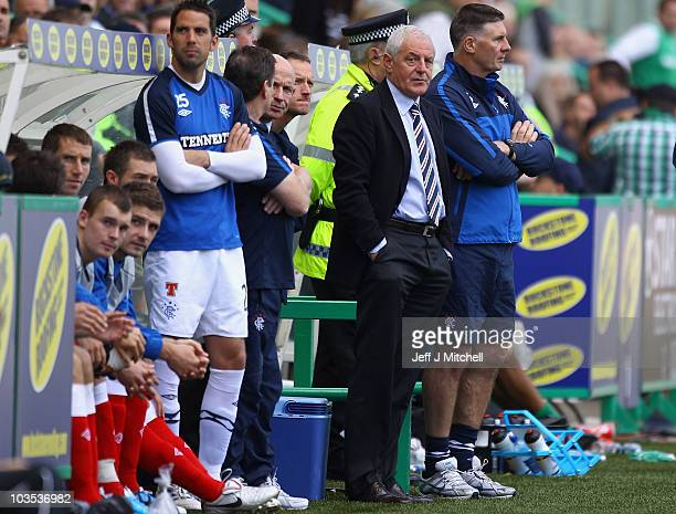 Walter Smith head coach of Rangers looks on during the Clydesdale Bank Scottish Premier League match between Hibernian and Rangers at Easter Road...