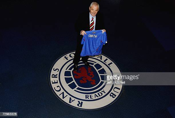 Walter Smith is unveiled as the new Rangers manager at their Murray Park training ground on January 10 2007 in Glasgow Scotland Smith replaces Paul...
