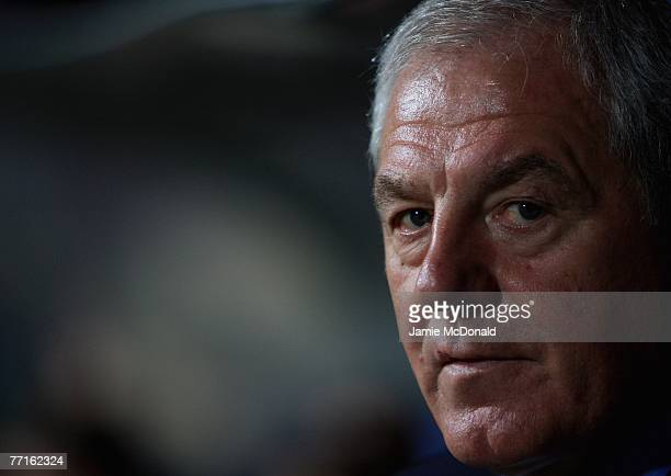 Walter Smith of Rangers looks on during the UEFA Champions League Group E match between Olympique Lyonnais and Glasgow Rangers at the Stade de...