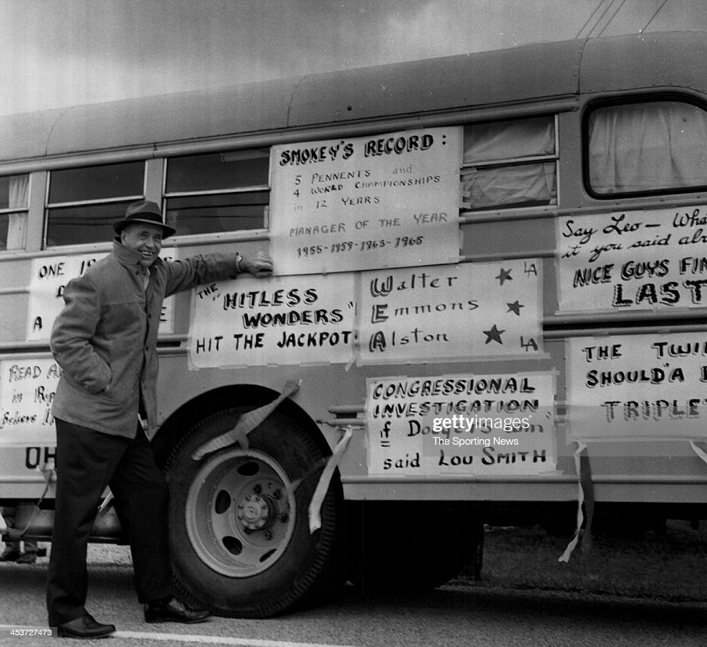 Walter 'Smokey' Alston has a laugh as he reads signs referencing him circa 1965 in his home town of Darrtown, Ohio.