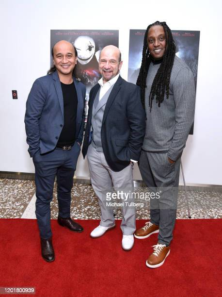 Walter Tabayoyong Adam Bitterman and Keith Perry attend the premiere of Get Gone at Arena Cinelounge on January 24 2020 in Hollywood California