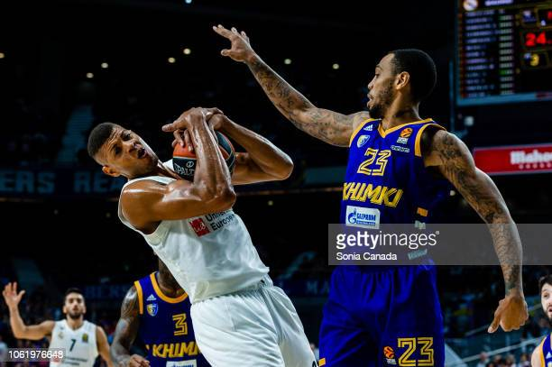 Walter Tavares #22 center of Real Madrid during the 2018/2019 Turkish Airlines Euroleague Regular Season Round 7 game between Real Madrid and Khimki...