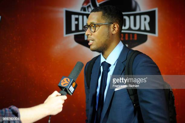 Walter Tavares #22 of Real Madrid during the Real Madrid arrival to participate of 2018 Turkish Airlines EuroLeague F4 at Hyatt Regency Hotel on May...