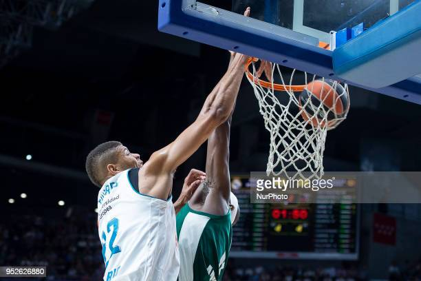 Walter Tavares of Real Madrid in action during the Turkish Airlines Euroleague Play Offs Game 4 between Real Madrid v Panathinaikos Superfoods Athens...