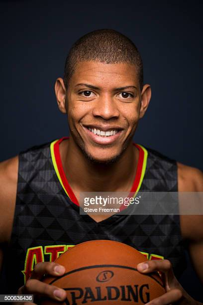 Walter Tavares of the Atlanta Hawks poses for a portrait during the 2015 NBA rookie photo shoot on August 8 2015 at the Madison Square Garden...