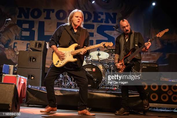 Walter Trout and Jonhnny Griparig perform on stage at The Notodden Blues Festival on August 1 2019 in Notodden Norway