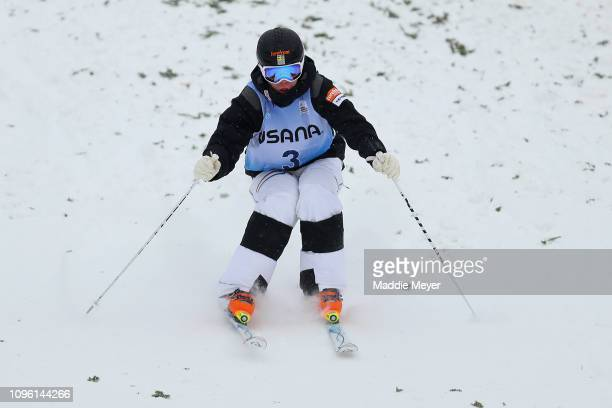 Walter Wallberg of Sweden competes in the Moguls Final during the FIS Freestyle Ski World Cup 2019 at Whiteface Mountain on January 18 2019 in Lake...