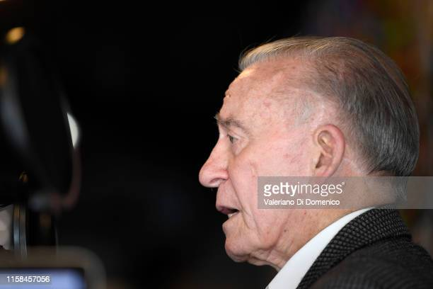 """Walter """"Walt"""" Cunningham attend M24 pop up radio at Kaspersky Lounge during Starmus V A Giant Leap sponsored by Kaspersky at Samsung Hall on June 26..."""