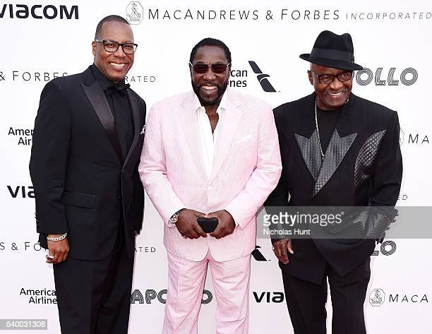 Walter Williams Eddie Levert and Eric Grant of The O'Jays attend 11th Annual Apollo Theater Spring Gala at The Apollo Theater on June 13 2016 in New...