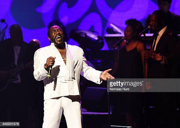 Walter Williams Eric Grant and Eddie Levert of The O'Jays perform at the 11th Annual Apollo Theater Spring Gala at The Apollo Theater on June 13 2016...