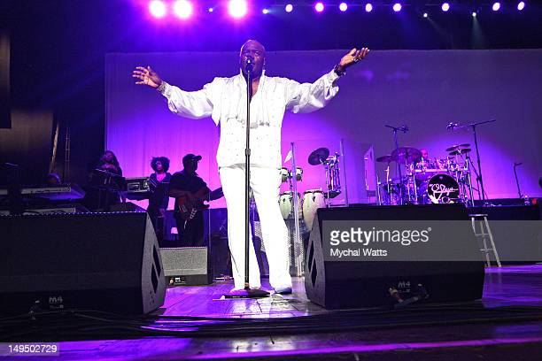Walter Williams of the O'Jays performs at the Mann Center For Performing Arts on July 27 2012 in Philadelphia Pennsylvania