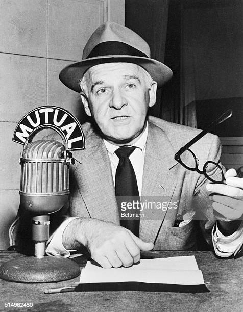 Walter Winchell at Mike during Radio Show