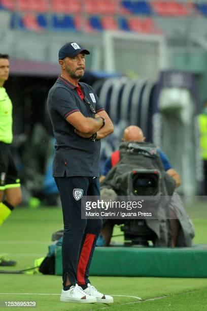 Walter Zenga head coach of Cagliari Calcio looks on during the Serie A match between Bologna FC and Cagliari Calcio at Stadio Renato Dall'Ara on July...