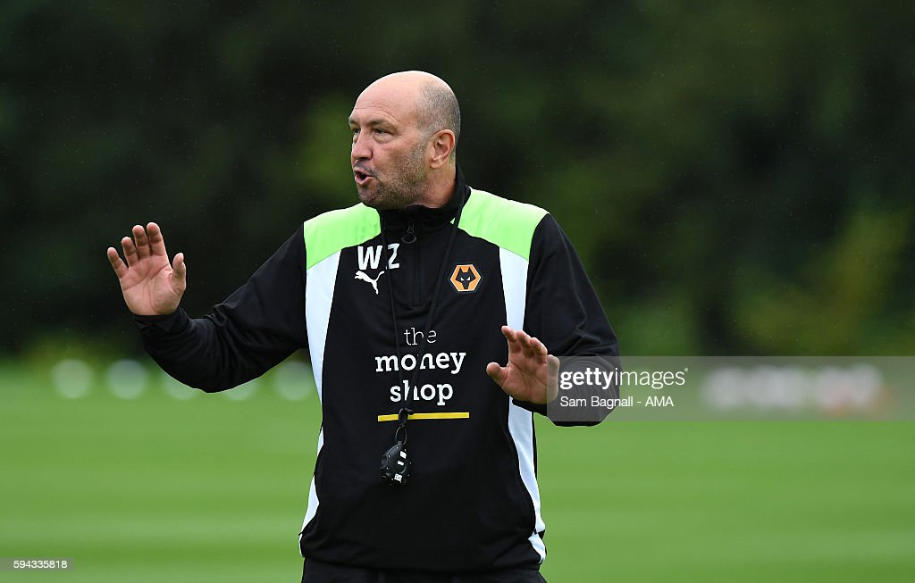 Walter Zenga manager / head coach of Wolverhampton Wanderers during a training session at Compton on August 22, 2016 in Wolverhampton, England.