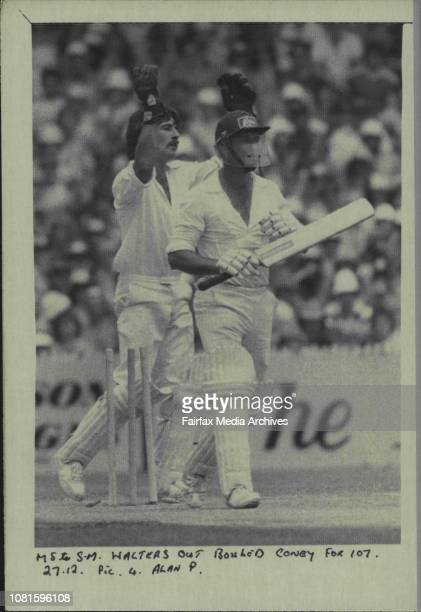 Walters out bowled Coney for 107 December 27 1980