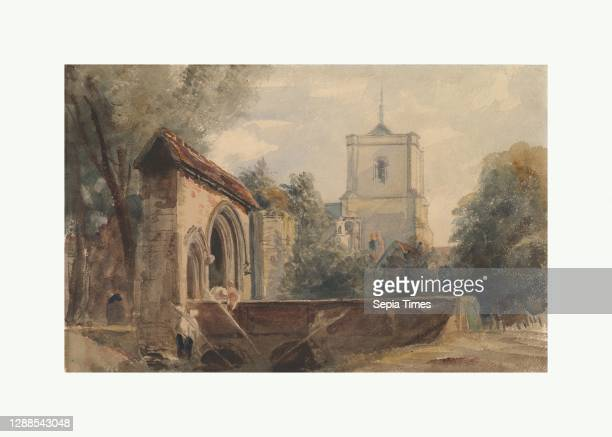 Waltham Abbey, Essex, ca. 1840, Graphite and watercolor, Sheet: 9 3/4 x 15 1/4 in. , Drawings, Peter De Wint , De Wint's masterful control of a...