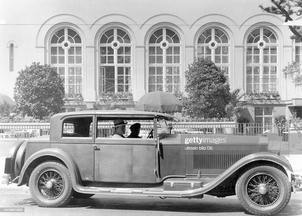 Walther von Mumm im Isotta-Fraschini, Typ 8 : News Photo