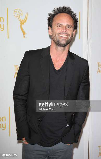 """Walton Goggins arrives at The Television Academy presents An Evening with """"Justified"""" held at Leonard H. Goldenson Theatre on March 19, 2014 in North..."""