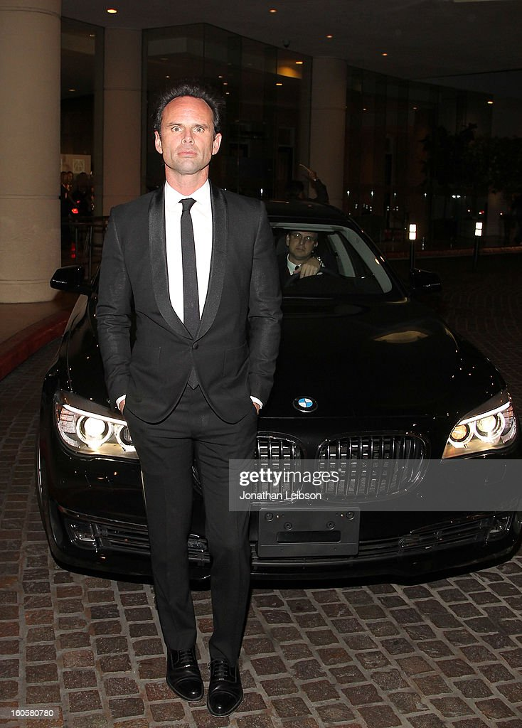 Walton Goggins arriving in a BMW 7 Series to the 17th Annual Art Directors Guild Awards For Excellence In Production Design presented by BMW at The Beverly Hilton Hotel on February 2, 2013 in Beverly Hills, California.