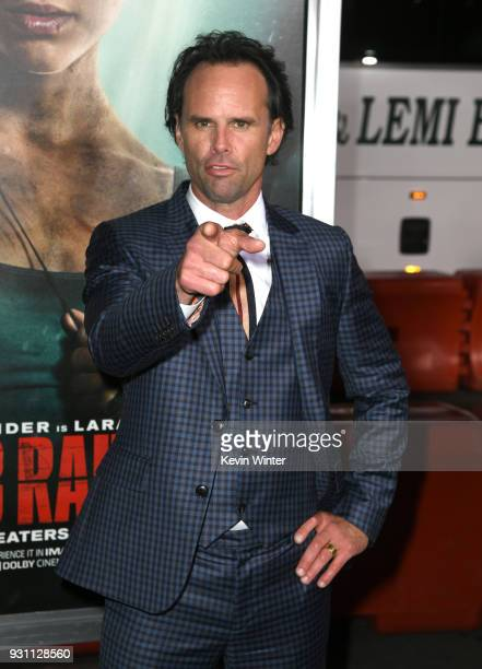 Walton Goggins attends the premiere of Warner Bros Pictures' 'Tomb Raider' at TCL Chinese Theatre on March 12 2018 in Hollywood California
