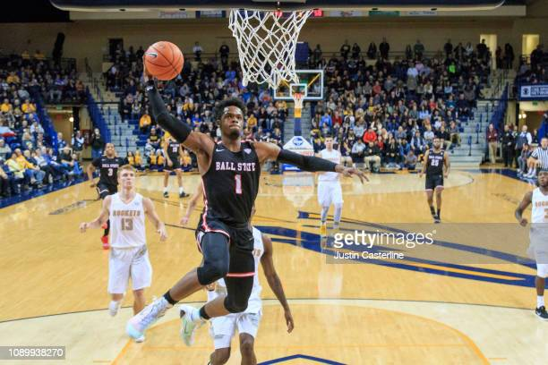 J Walton of the Ball State Cardinals shoots the ball in the game against the Toledo Rockets during the second half at Savage Arena on January 04 2019...