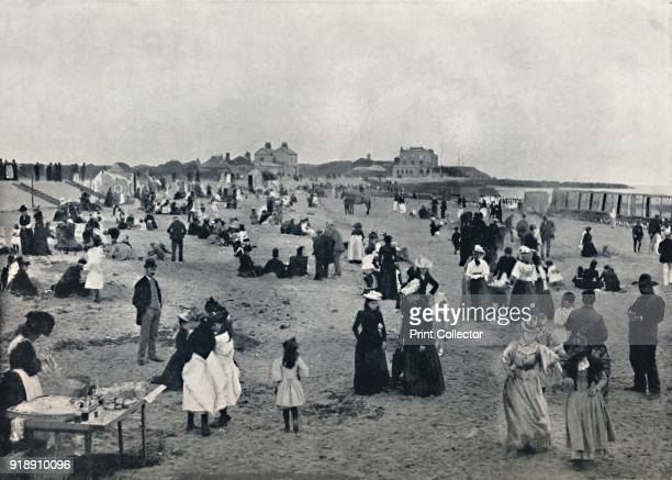 'WaltonontheNaze Scene on the Beach' 1895 From Round the Coast [George Newnes Limited London 1895]Artist Unknown